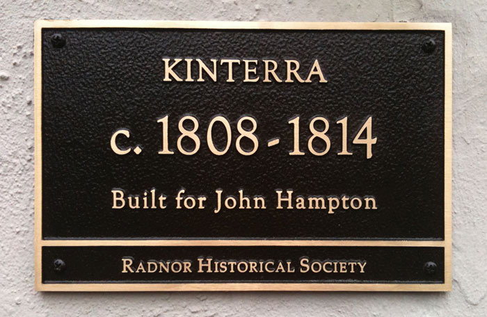 An example of one of our recently produced residential building markers.